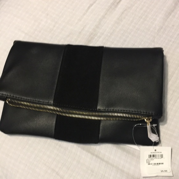 7f4ce09224 Nordstrom Bags | Nwt Fold Over Black Pocket Book | Poshmark
